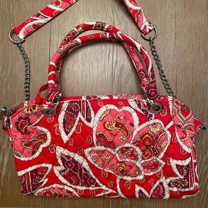 Vera Bradley Pink and Red Paisley Satchel